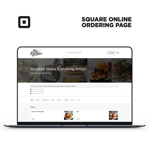 Square Online Ordering Page For Pig&Butter