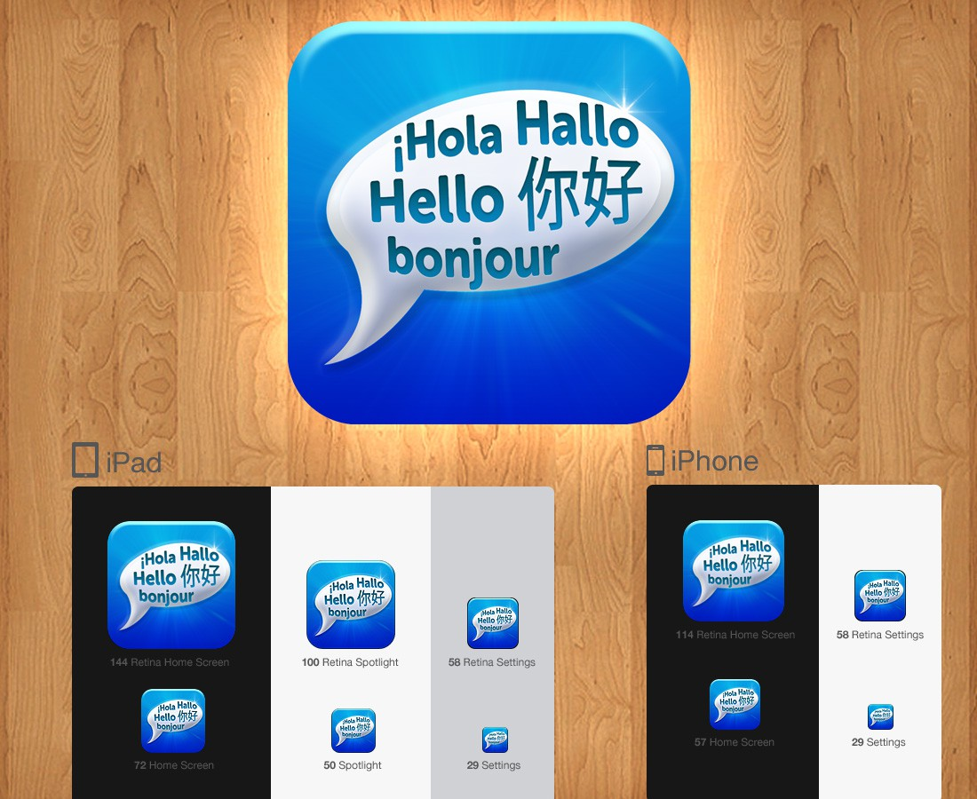 iPhone icon design wanted for LangAmigo (AKA - Language Buddy)