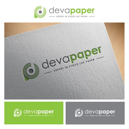 simple logo for  deva paper