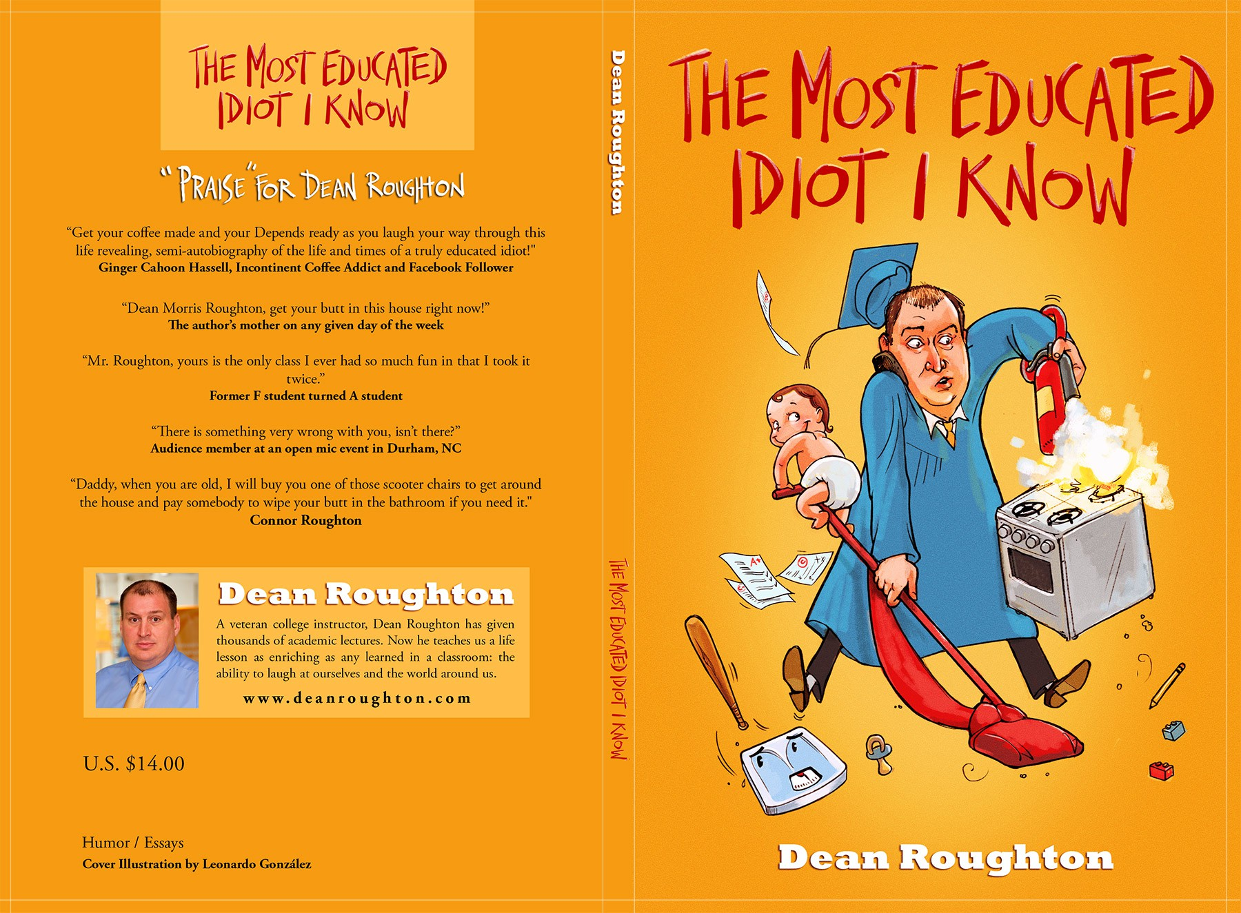 Book cover for a humor book published via CreateSpace