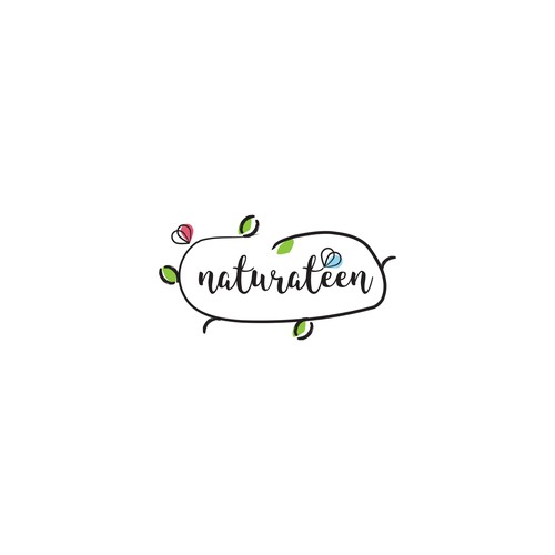 Logo for an organic and natural product for teenagers