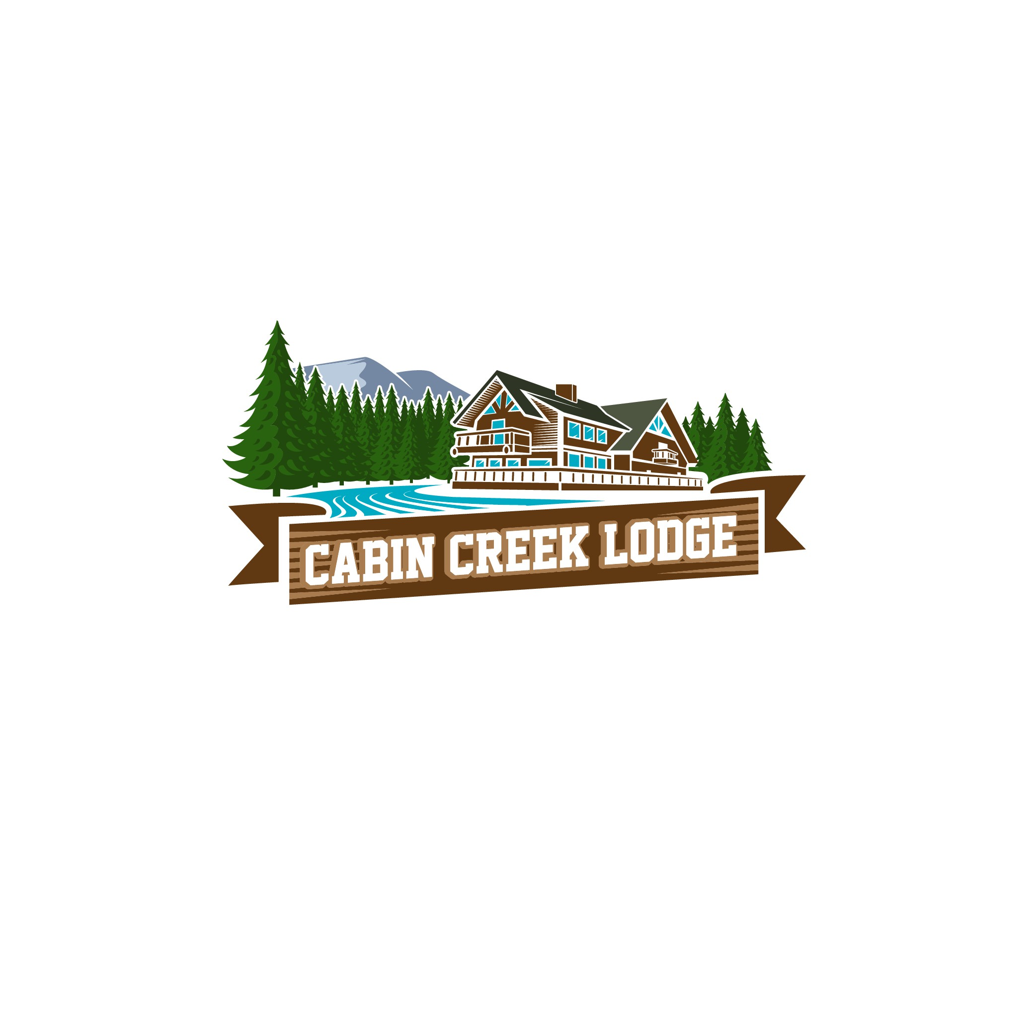Create a warm & inviting logo for our Lodge nestled in the forests of WA.