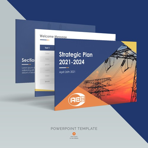 World-class PPT template of AEE Power