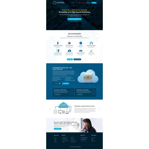 Website Design for Cloud Storage Website