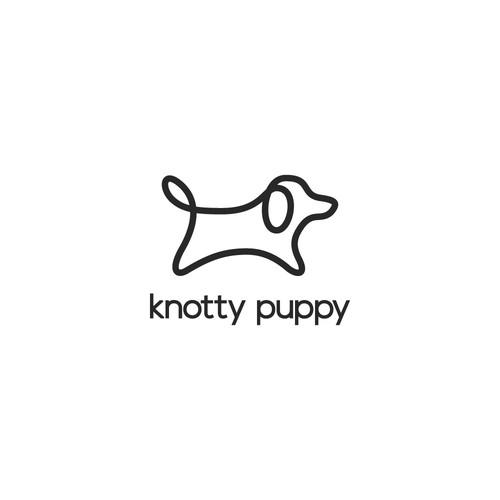 Simple Funny Puppy Logo