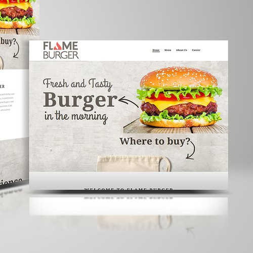Flame Burger WebPage Design
