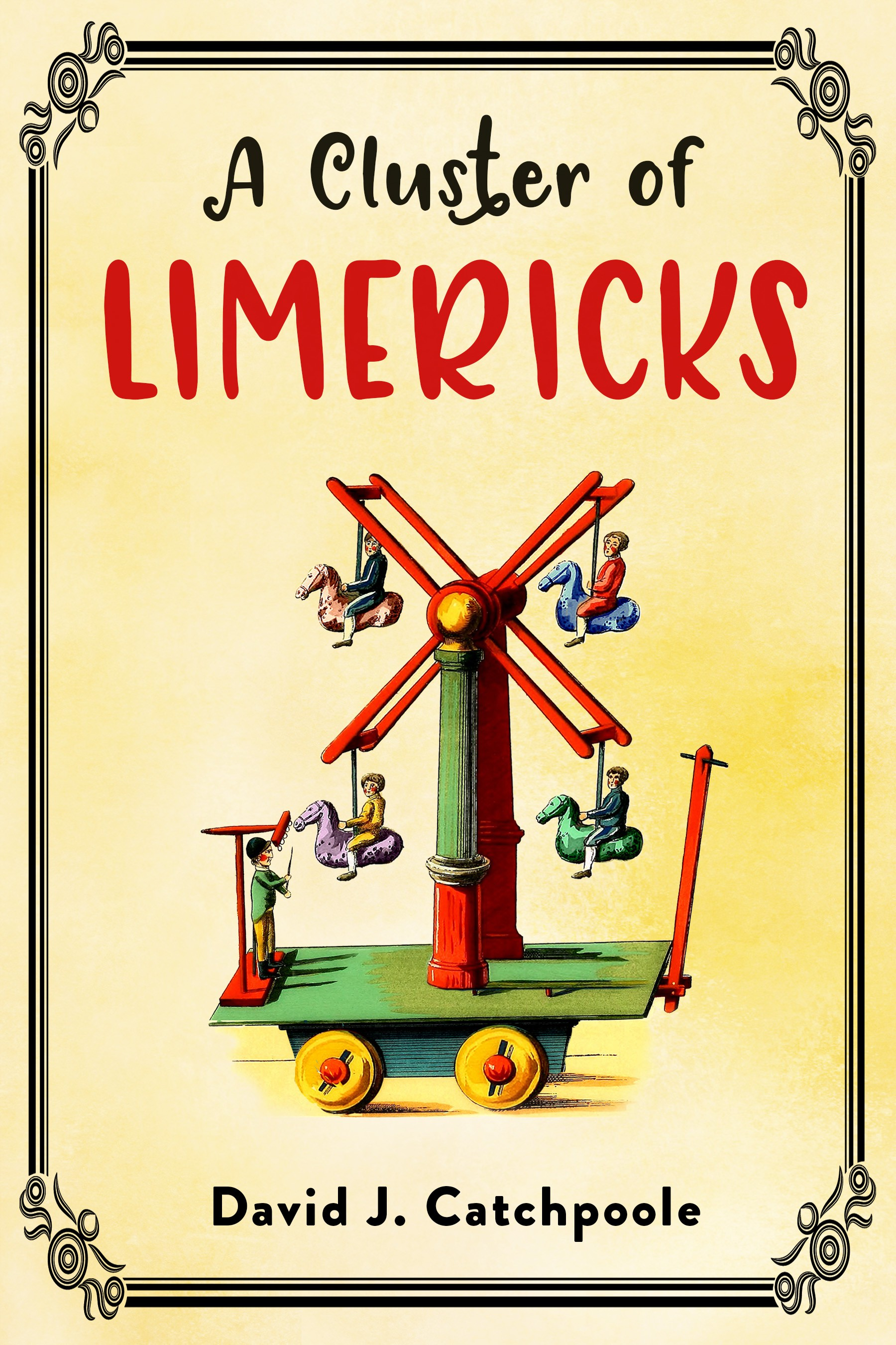 Design a book cover for A Cluster of Limericks