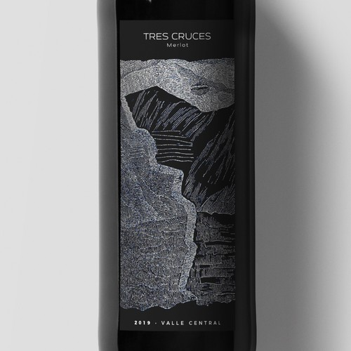 Tres Cruces Wine Label